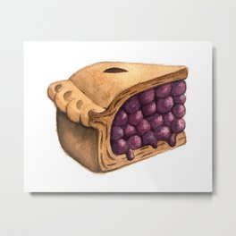 Blueberry Pie Slice Metal Print
