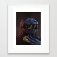 cookie monster Framed Art Prints featuring Cookie Monster by Adrián Retana