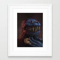 cookie monster Framed Art Prints featuring Cookie Monster by Adrián Retana