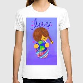 Love Earth Kokeshi T-shirt