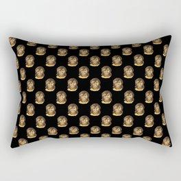 Michelle (black background) Rectangular Pillow