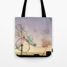 Sunset Bubbles Tote Bag