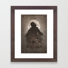 Horror Classics - The Wolf Man Framed Art Print