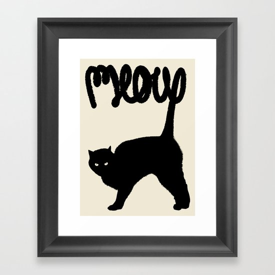 Meow Framed Art Print