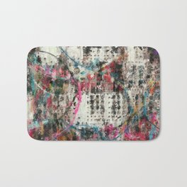 Analog Synthesizer, Abstract painting / illustration Bath Mat