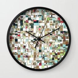 Geometric Textured Jumble Wall Clock