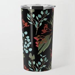 Australian Botanicals - Black Travel Mug