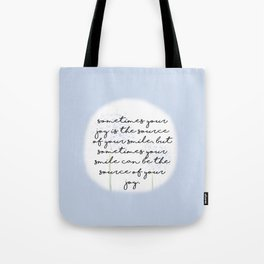 Half Smile Tote Bag