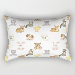 Cute Woodland Farm Baby Animals Nursery Rectangular Pillow