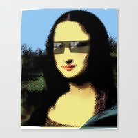 mona lisa Canvas Prints featuring Mona Lisa by Bright Enough💡