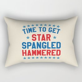 Time to Get Star Spangled Hammered - Fourth of July / 4th of July Rectangular Pillow