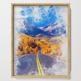 Colorado Highway Serving Tray