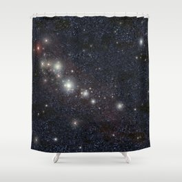 Bright stars Shower Curtain