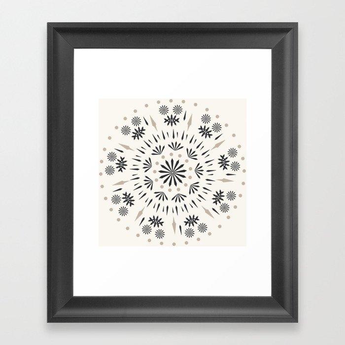Snowflakes Scandic Nordic Gerahmter Kunstdruck