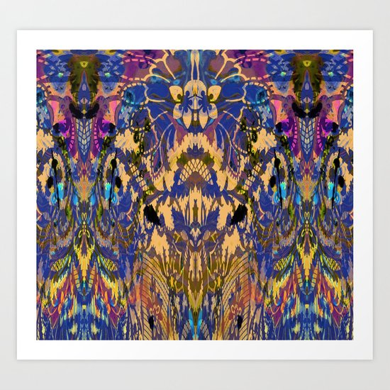Laced Purple Art Print