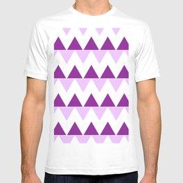Triangle Chevron; Purple T-shirt