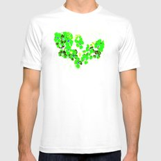 Green Heart Mens Fitted Tee White MEDIUM