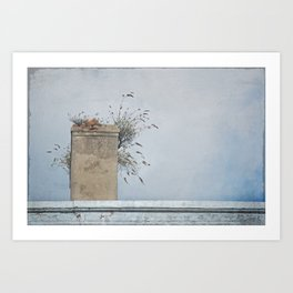 Chimney Pots and Cloudy Skies Art Print