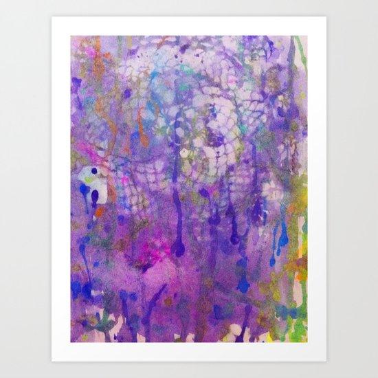 watercolor lace Art Print