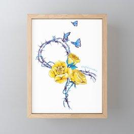 Ribbon | Endometriosis awareness Framed Mini Art Print