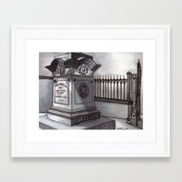 poe Framed Art Prints featuring Poe by Victorian Story