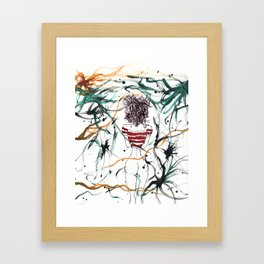 Chick With The Purple Hair Framed Art Print