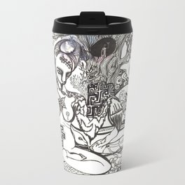 Bison Yogini ~ Fertility Metal Travel Mug