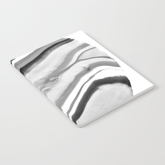 Shadow of Ourselves Marbling Marble Circle World Black and White Notebook