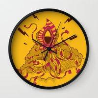 kraken Wall Clocks featuring Kraken! by Popnyville