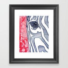 Zebra Portrait Framed Art Print