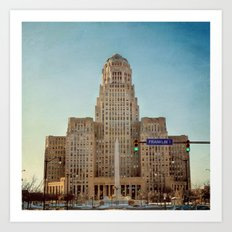 Down Town City Hall Buffalo NY Art Print