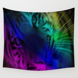 Rainbow Tiger Wall Tapestry