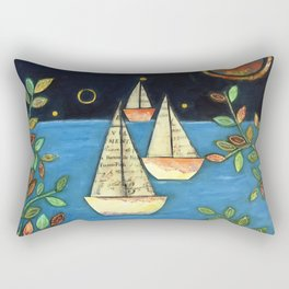 Calm at the Sea by Elizabeth Claire Rectangular Pillow