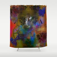steam punk Shower Curtains featuring Steam Punk by Robin Curtiss