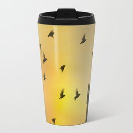 Rooftop Birds Travel Mug