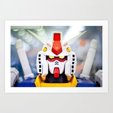 Portrait Gundam Art Print