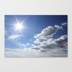 Let the sun shine Canvas Print