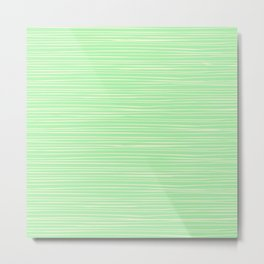 Lime Green & Thin Pale Yellow Lines  Metal Print