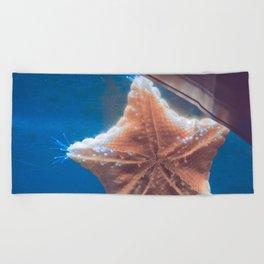 Starfish says hello Beach Towel