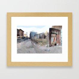 Vacant Lot Door Framed Art Print