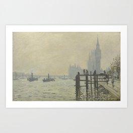 Claude Monet - The Thames Below Westminster Art Print