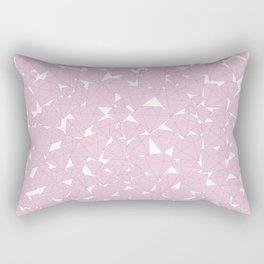 Pink diamonds / Lineart diamonds pattern Rectangular Pillow