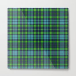 Blue and green Tartan (Scotch) Pattern Metal Print