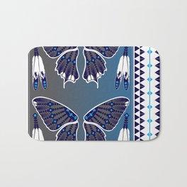 Butterfly Nation Blue Bath Mat