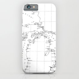 Vintage Map of Shipwrecks of the Great Lakes iPhone Case
