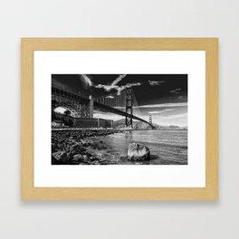 B&W Golden Gate Framed Art Print