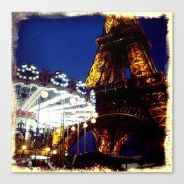Eiffel Carosel Canvas Print