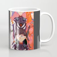 evangelion Mugs featuring Evangelion Kids by minthues