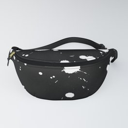 Black and white splash pattern homedecor Fanny Pack