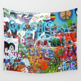 grafitti wall Wall Tapestry